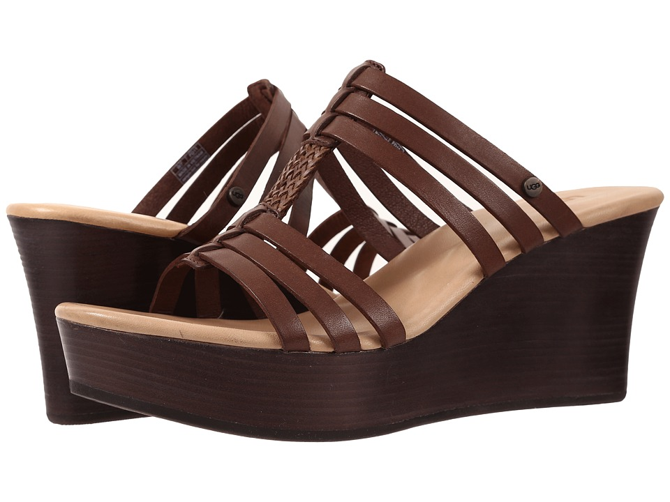 UGG - Mattie (Chocolate Leather) Women's Wedge Shoes