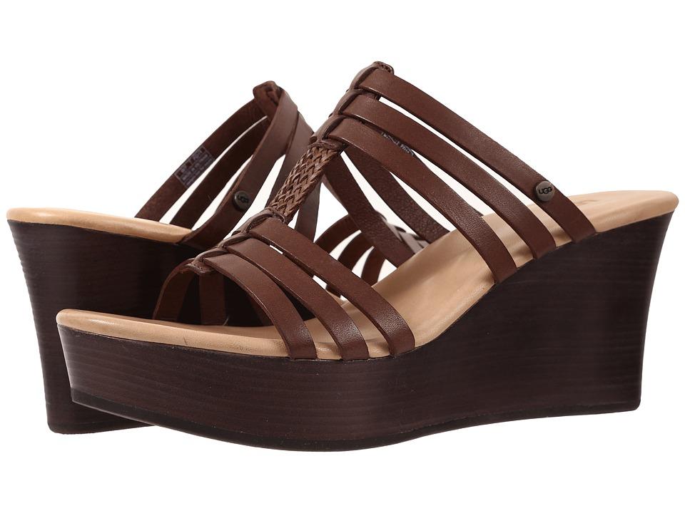 UGG - Mattie (Chocolate Leather) Women's Wedge Shoes