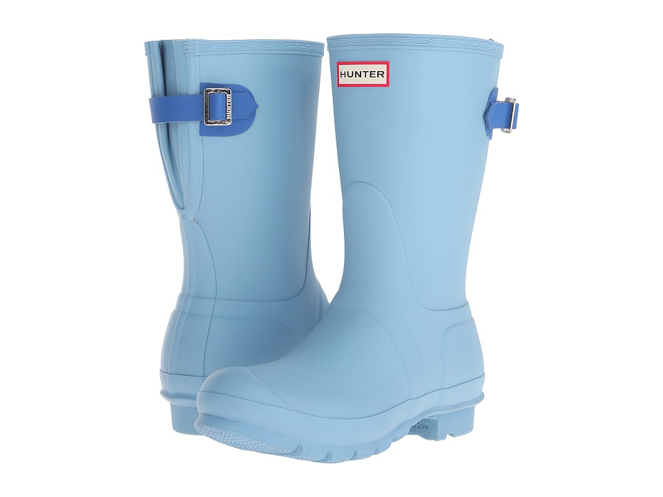 Hunter - Original Back Adjustable Short (Blue Sky/Bright Cobalt) Women's Rain Boots
