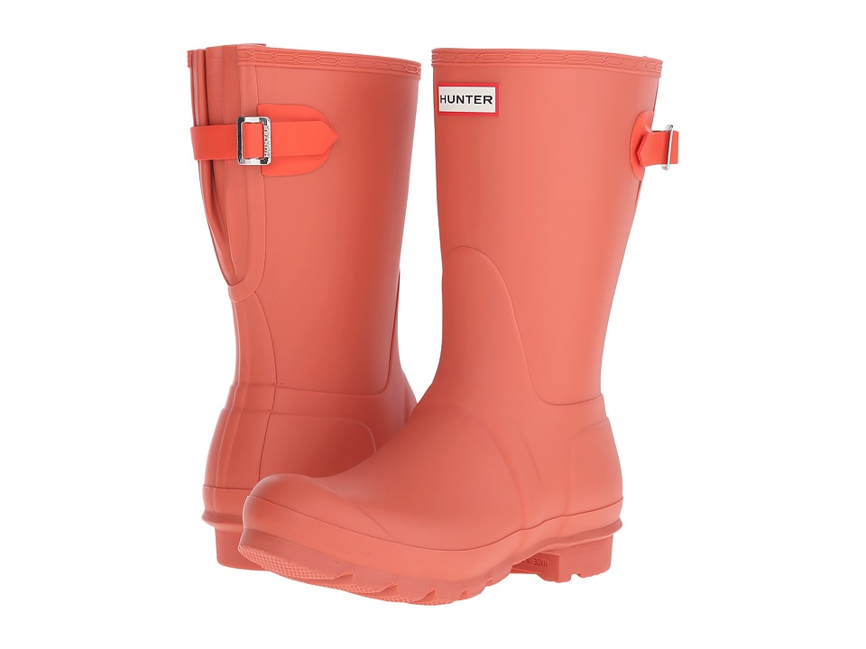 Hunter - Original Back Adjustable Short (Sunset/Tent Red) Women's Rain Boots