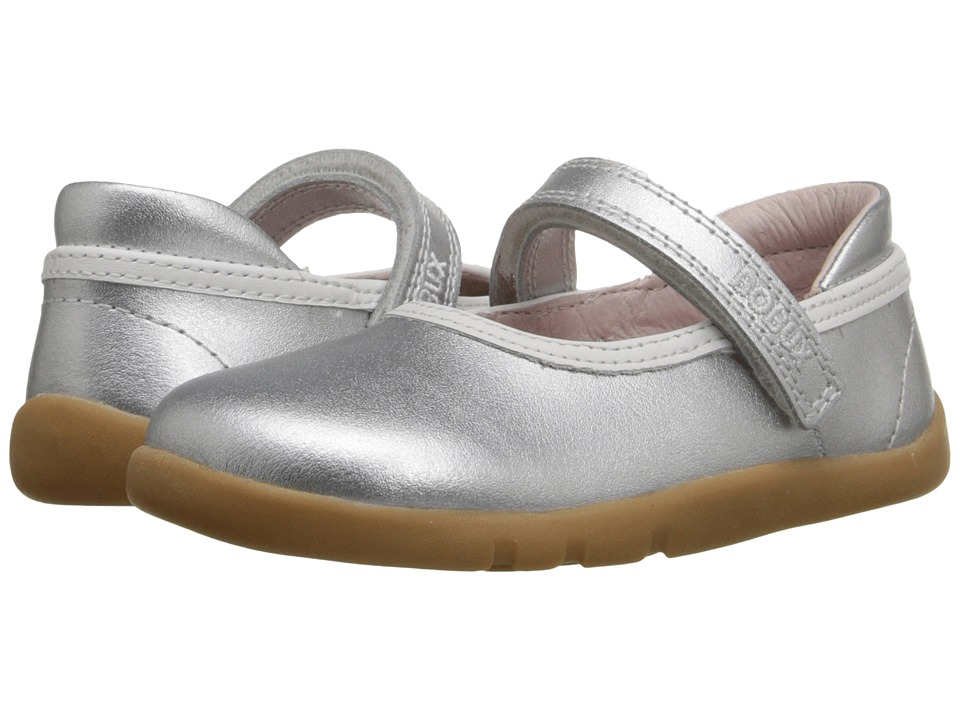 Bobux Kids - I-Walk Classic Twirl (Toddler) (Silver) Girl's Shoes