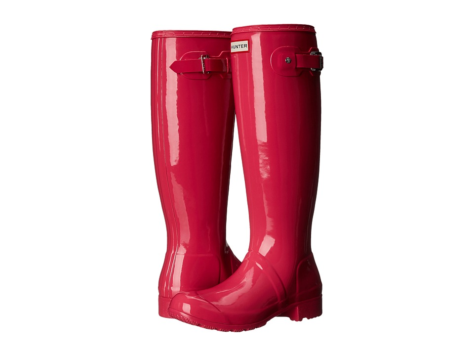Hunter - Original Tour Gloss (Bright Cerise) Women's Rain Boots
