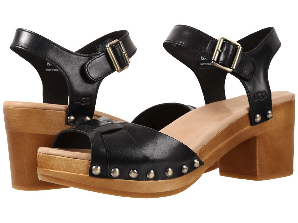 UGG - Janie (Black Leather) High Heels