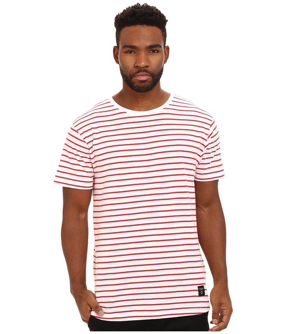 Akomplice - Hook Scoop Tee (Red/White) Men's T Shirt