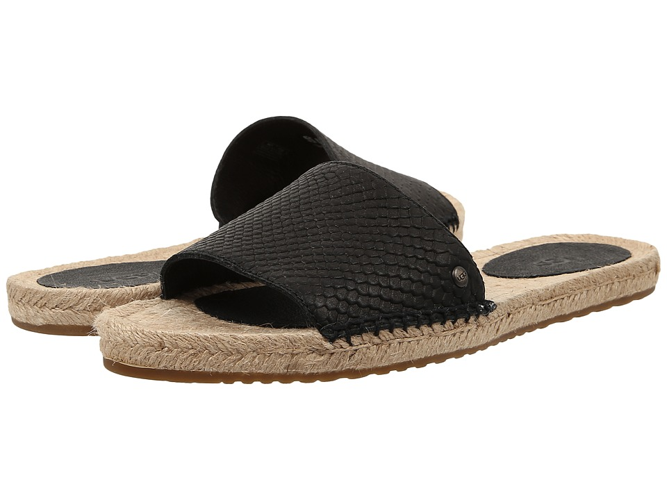 UGG - Cherry Exotic (Black Leather) Women's Sandals