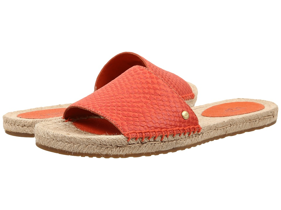 UGG - Cherry Exotic (Hazard Orange Leather) Women's Sandals