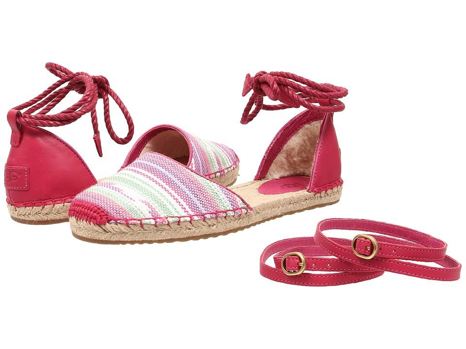 UGG - Libbi Serape (Furious Fuchsia Jacquard) Women's Sandals