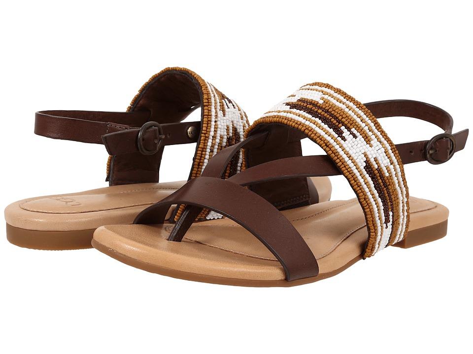 UGG Verona Serape Beads Chocolate Leather Sandals