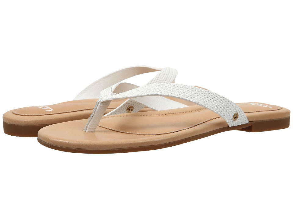 UGG - Allaria II Braid (White Wall Leather) Women's Slide Shoes