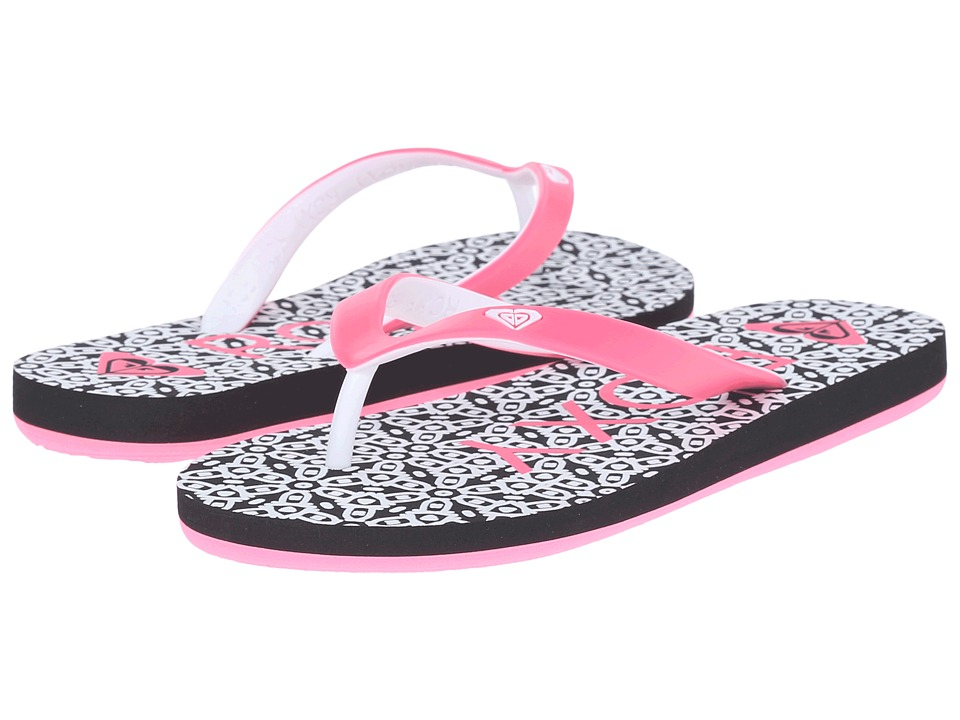 Roxy Kids - Tahiti V (Little Kid/Big Kid) (Black/Flourescent Pink) Girls Shoes