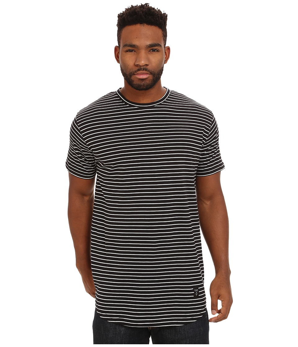 Akomplice - White Striped Moan SC Tee (Black) Men's T Shirt