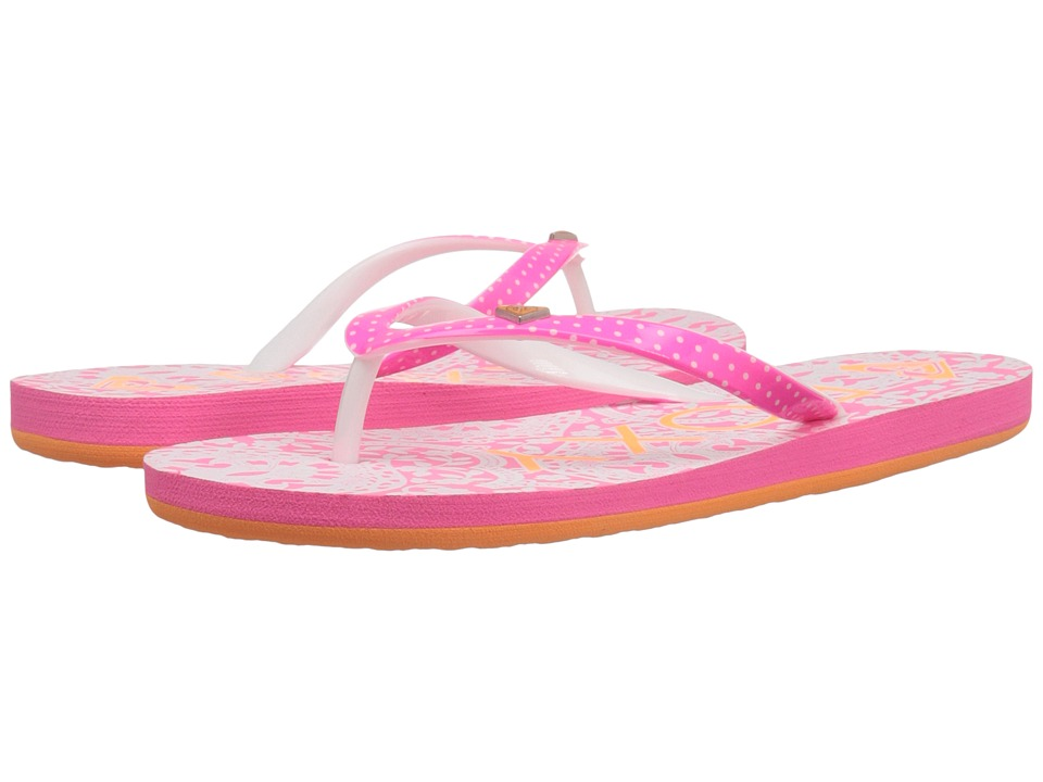 Roxy Kids - Pebbles V (Little Kid/Big Kid) (Orange/White) Girls Shoes