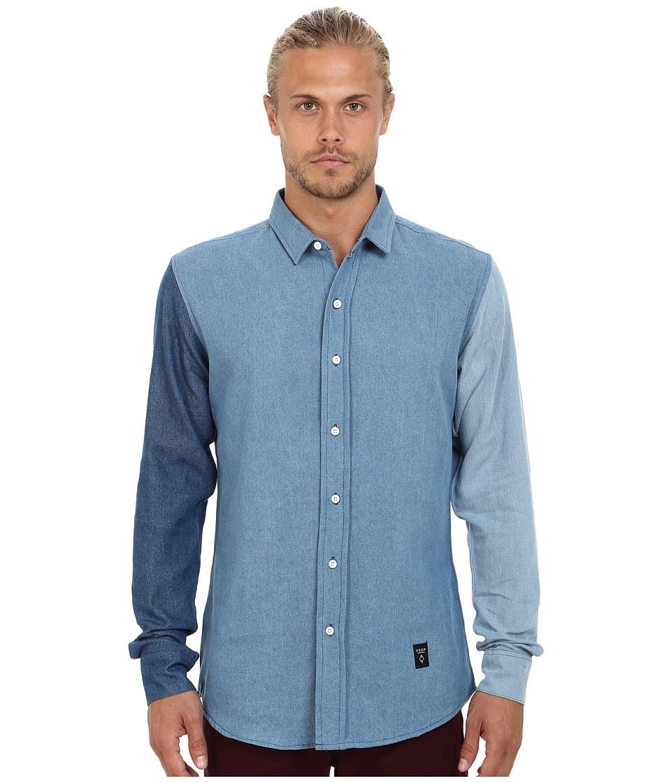 Akomplice - Threesome DT Button Up Shirt (Blue) Men's Clothing