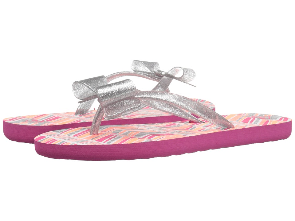 Roxy Kids - Lulu II (Little Kid/Big Kid) (Pink Stripe) Girls Shoes