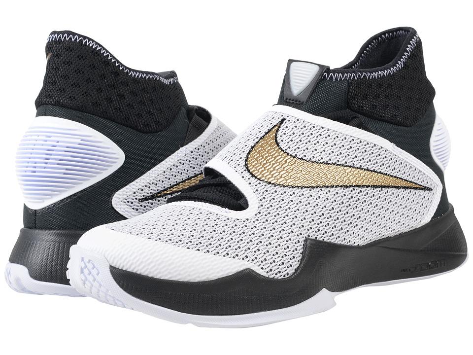 Nike - Zoom Hyperrev 2016 (Black/White/Metallic Gold) Men's Basketball Shoes