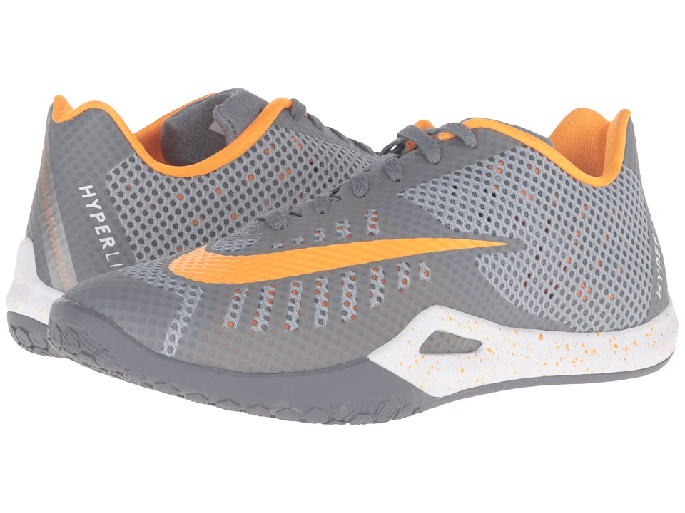 Nike Hyperlive Cool Grey-Wolf Grey-Vivid Orange-White Mens Basketball Shoes