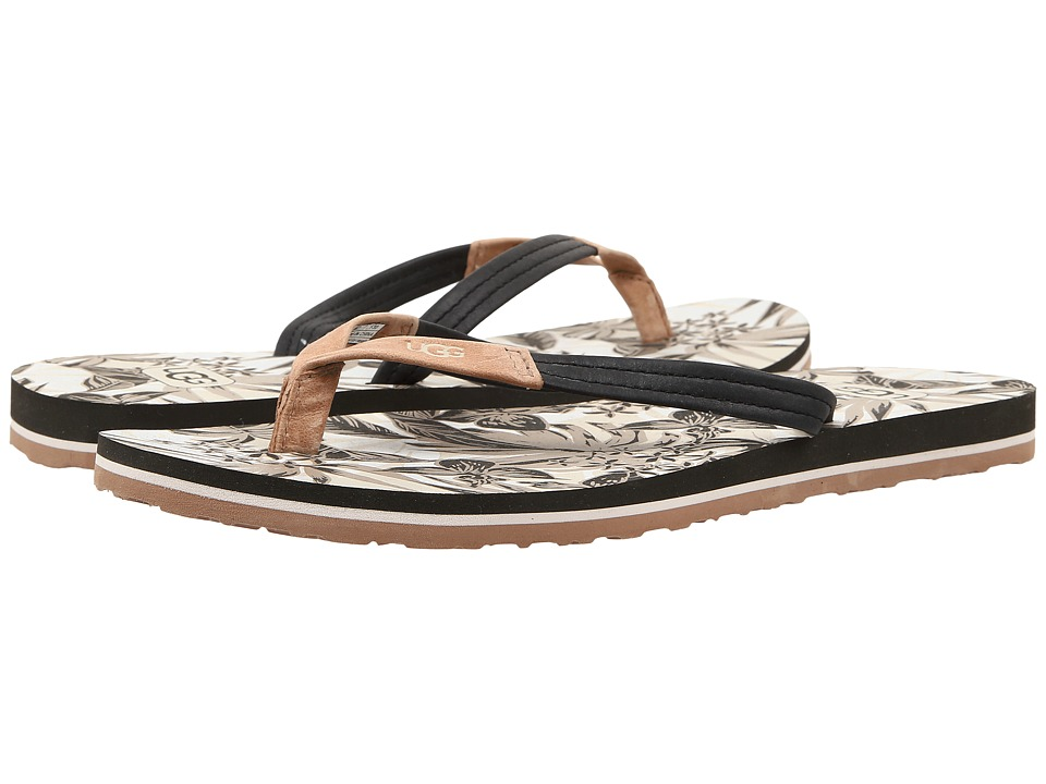 UGG - Magnolia Island Floral (Tropical Black) Women's Sandals
