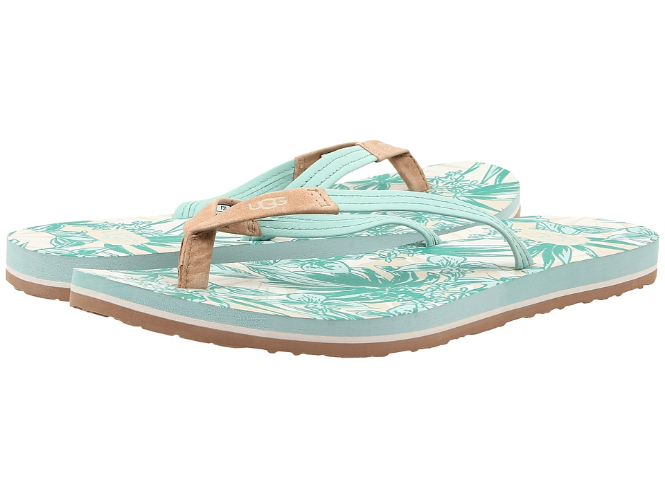 UGG - Magnolia Island Floral (Tropical Dino Green) Women's Sandals