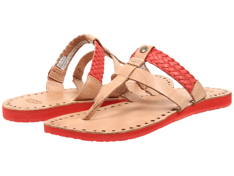 UGG - Audra (Tomato Soup Leather) Women's Sandals