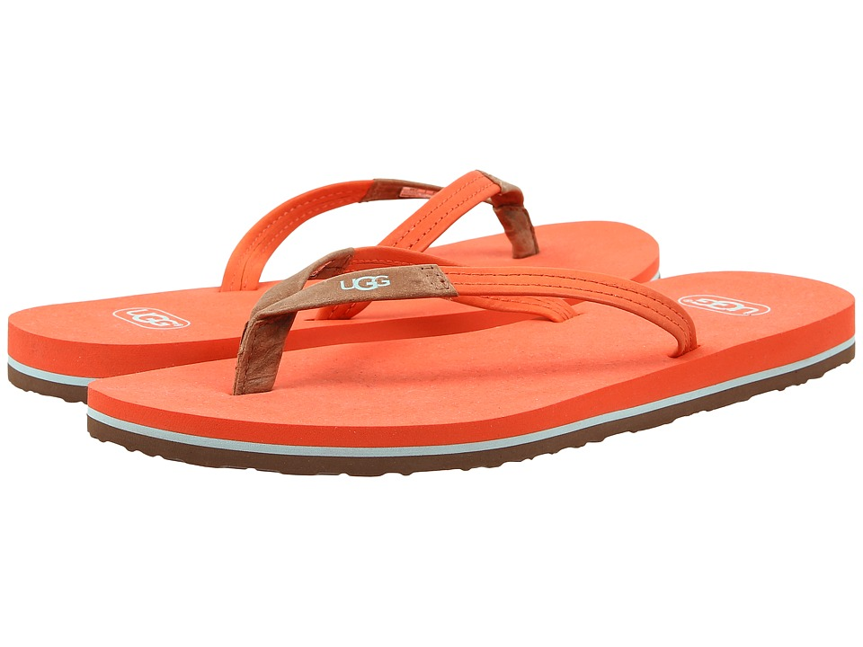 UGG - Magnolia (Hazard Orange Leather) Women's Sandals