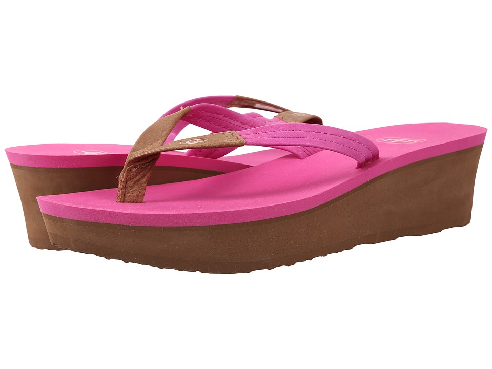 UGG - Ruby (Furious Fuchsia Leather) Women's Wedge Shoes