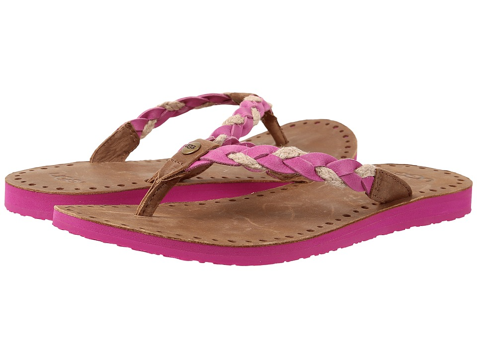 UGG - Navie (Furious Fuchsia Leather) Women's Sandals