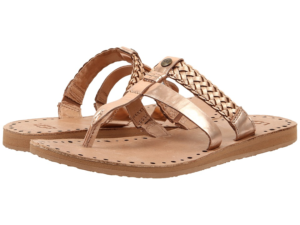 UGG - Audra (Rose Gold Leather) Women's Sandals