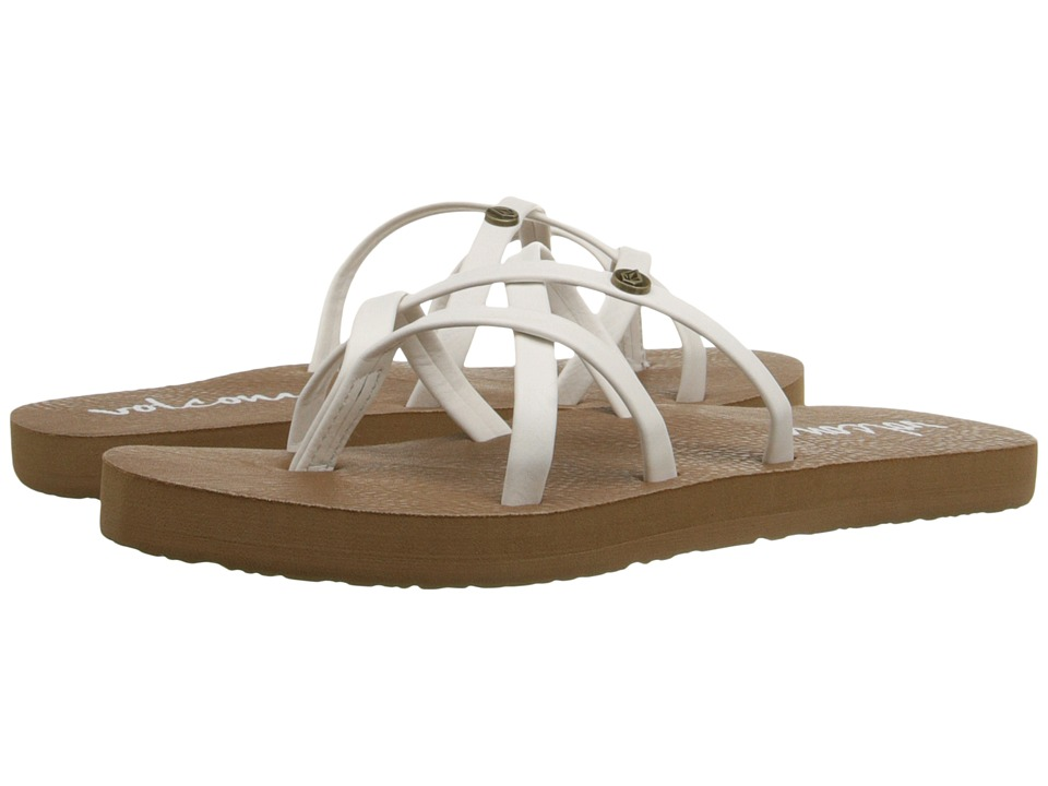 Volcom Kids - New School Sandal (Little Kid/Big Kid) (White) Girls Shoes