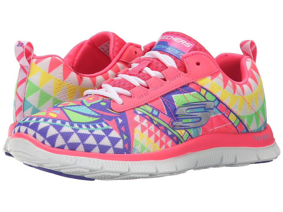 SKECHERS - Flex Appeal-Hunter (Pink Multi) Women's Shoes