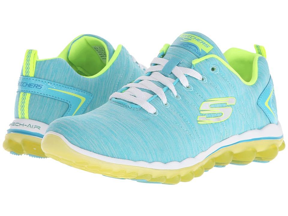 SKECHERS - Skech-Air 2.0 - Sweet Life (Aqua/Lime) Women's Shoes