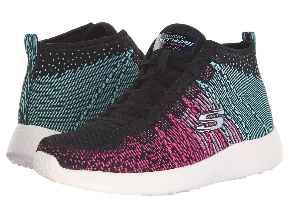 SKECHERS - Burst-Space (Black/Blue) Women's Shoes