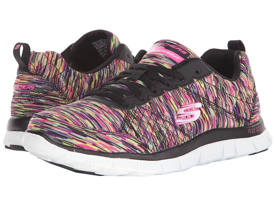 SKECHERS - Flex Appeal-Space Ace (Black/Multi) Women's Shoes
