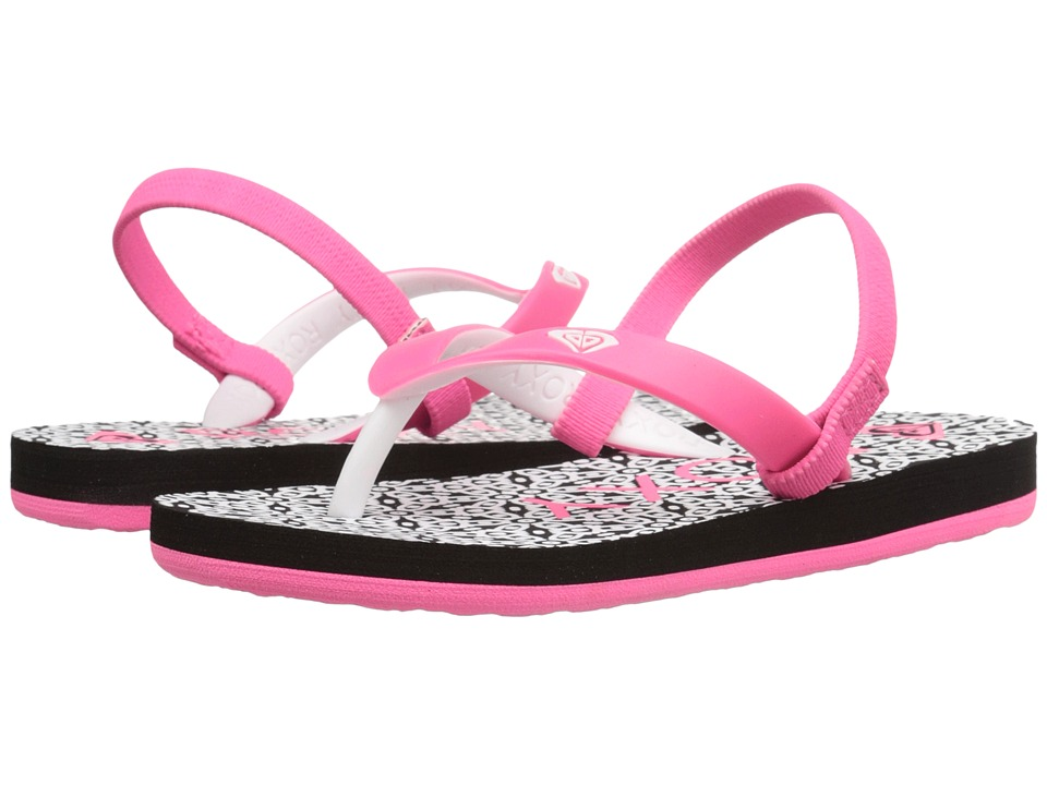 Roxy Kids - Tahiti V (Toddler) (Black/Flourescent Pink) Girls Shoes
