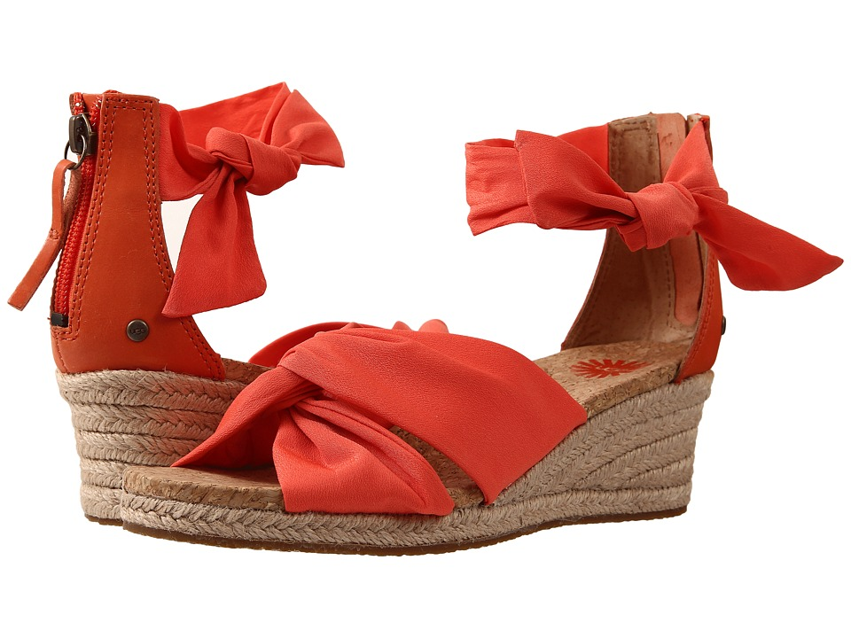 UGG - Starla (Hazard Orange Textile) Women's Dress Sandals