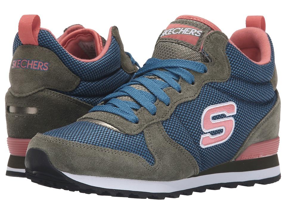 SKECHERS - Retros-OG 85 High (Green/Blue) Women's Shoes