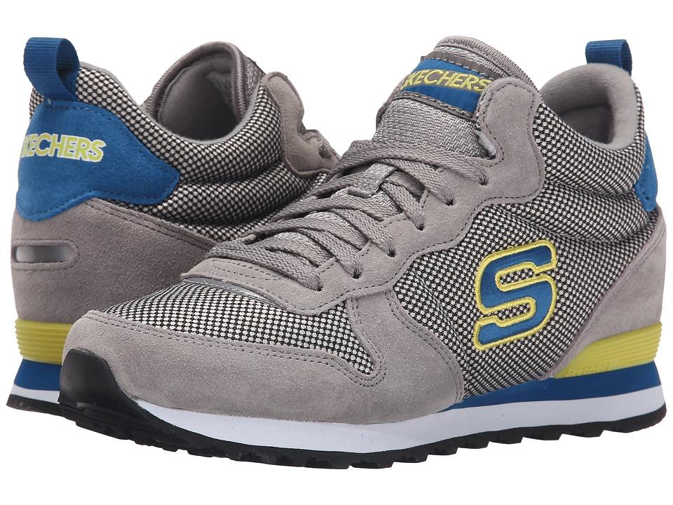 SKECHERS - Retros-OG 85 High (Gray/Blue) Women's Shoes