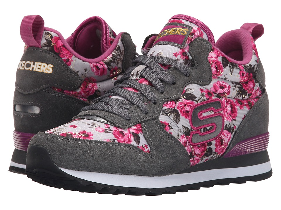 SKECHERS - Retros-OG 1985 (Gray/Pink) Women's Shoes