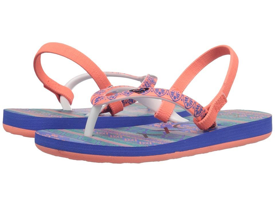 Roxy Kids - Pebbles V (Toddler) (Teal/Black) Girl's Shoes
