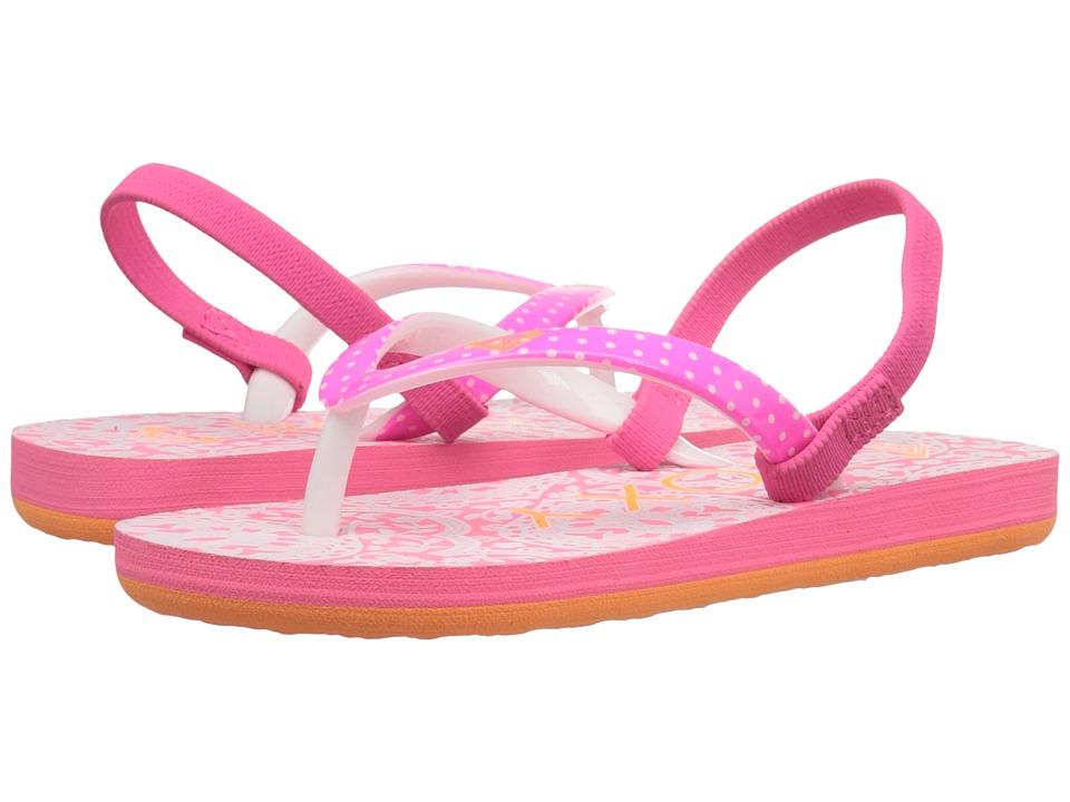 Roxy Kids - Pebbles V (Toddler) (Orange/White) Girl's Shoes