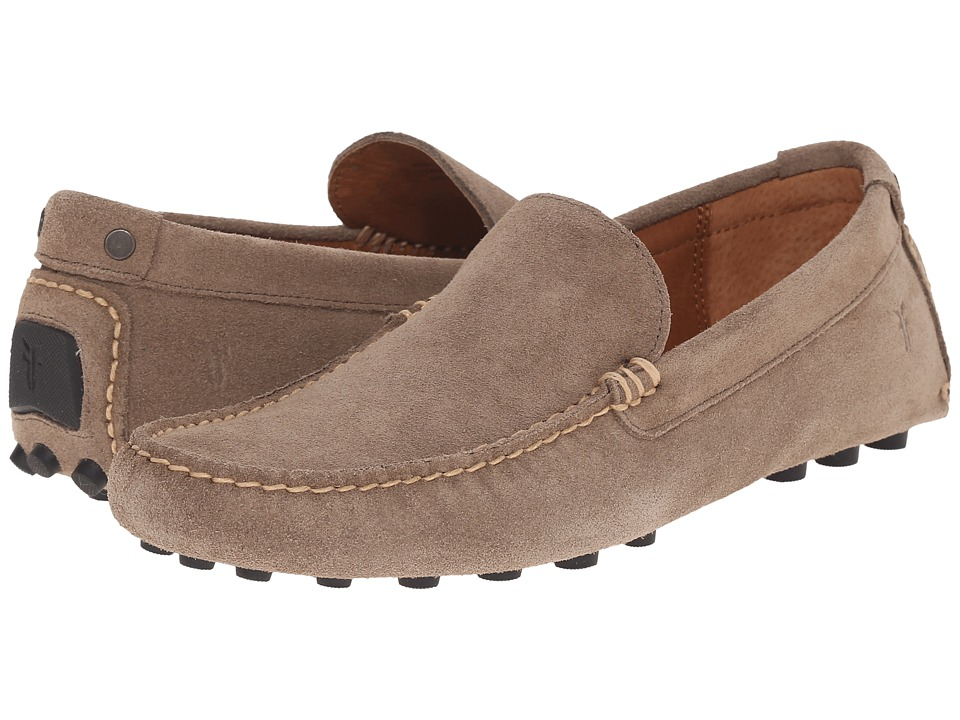 Frye - Russel Venetian (Grey Oiled Suede) Men's Slip on Shoes