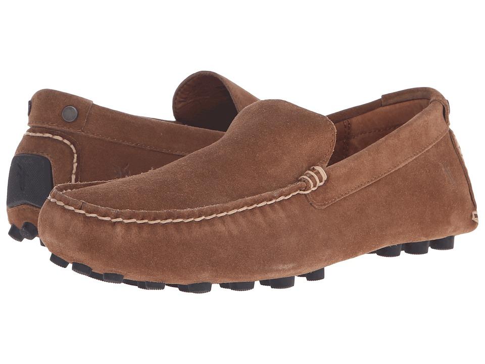 Frye - Russel Venetian (Tan Oiled Suede) Men's Slip on Shoes