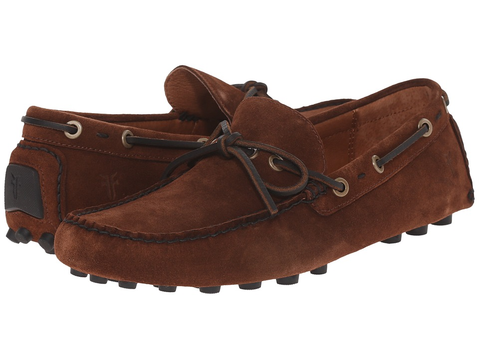 Frye - Russel Tie (Brown Oiled Suede) Men's Slip on Shoes