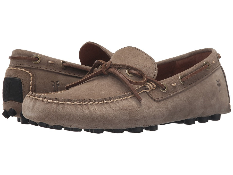 Frye - Russel Tie (Grey Oiled Suede) Men's Slip on Shoes
