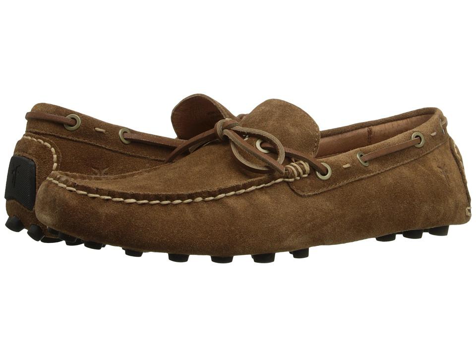 Frye - Russel Tie (Tan Oiled Suede) Men's Slip on Shoes