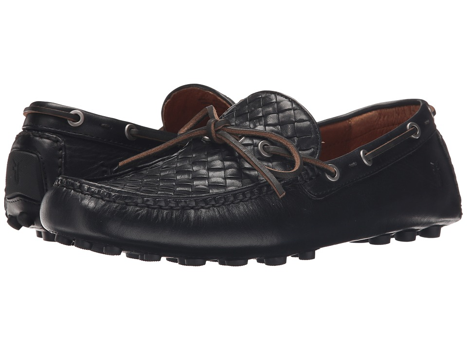 Frye - Russell Woven (Black Oiled Vintage) Men's Slip on Shoes