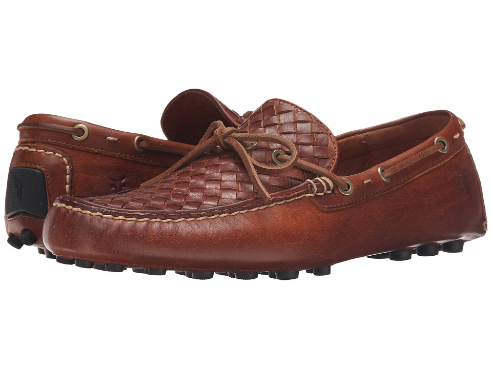 Frye - Russell Woven (Cognac Oiled Vintage) Men's Slip on Shoes