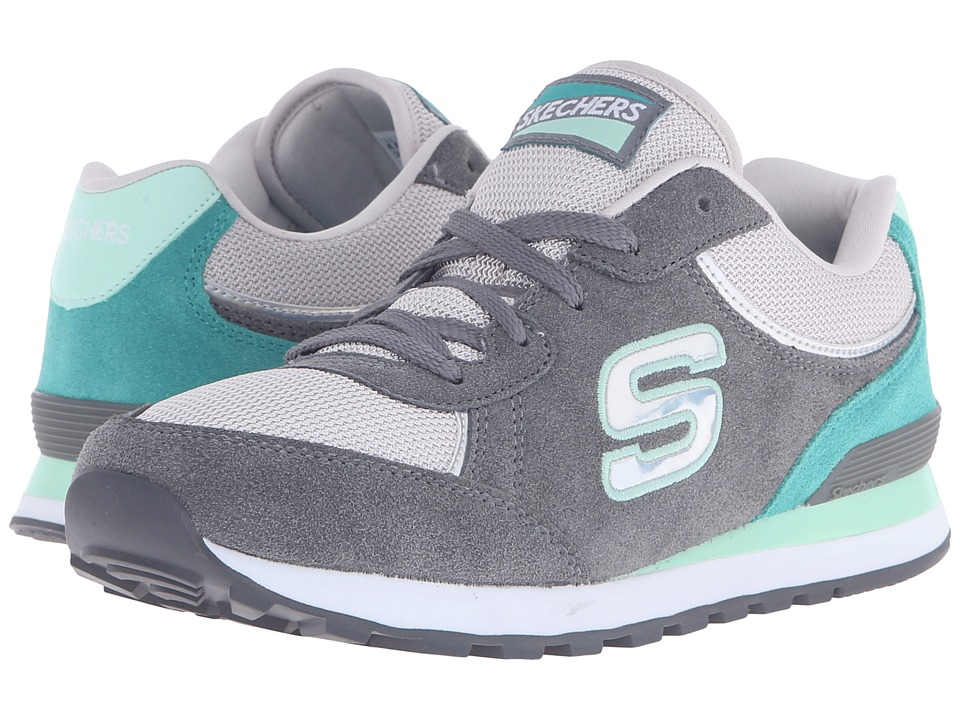 SKECHERS - Retros-OG 82 Mid (Gray/Mint) Women's Shoes