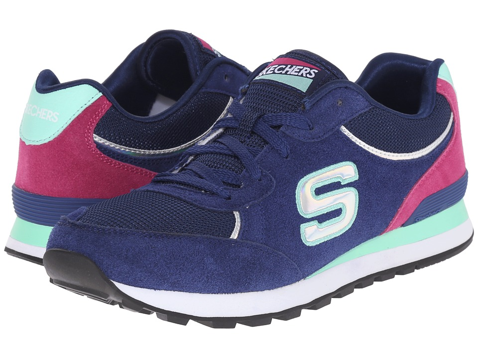SKECHERS - Retros-OG 82 Mid (Navy/Aqua) Women's Shoes