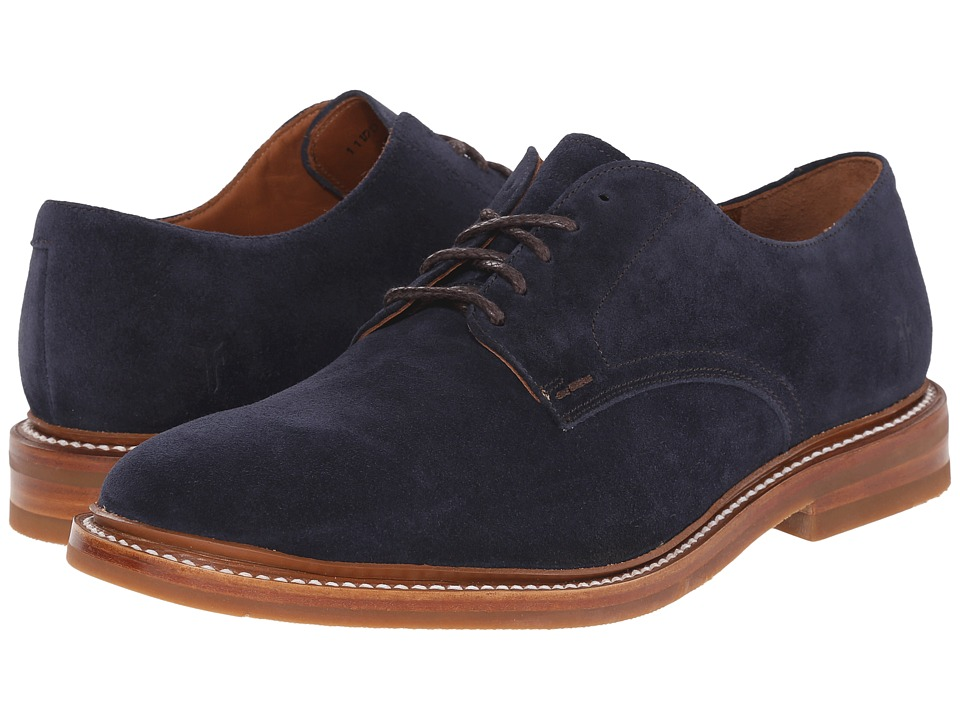 Frye - William Oxford (Navy Oiled Suede) Men's Plain Toe Shoes