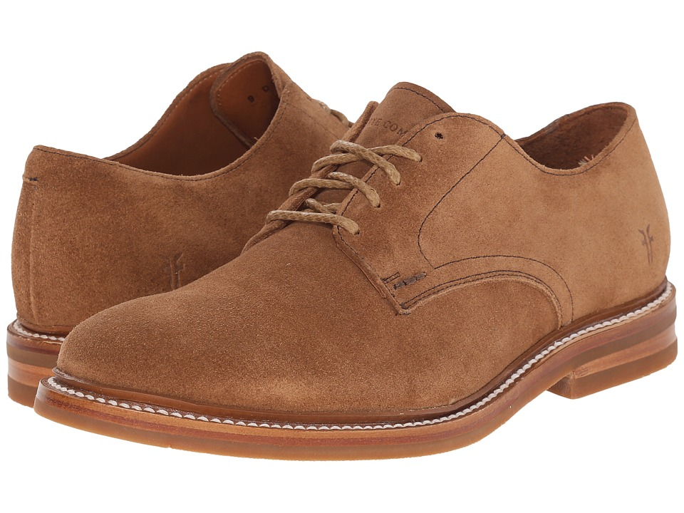 Frye - William Oxford (Tan Oiled Suede) Men's Plain Toe Shoes
